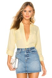1.State Patch Pocket Roll Tab Double Gauze Top Lemon
