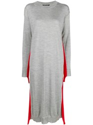 Sofie D'hoore Stripe Detail Sweater Dress Grey