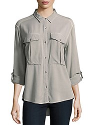 Ck Calvin Klein Hi Lo Long Sleeve Shirt Tarragon Green