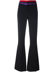 Capucci High Waisted Flared Trousers Black