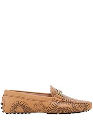 Tod's Gommino Double T Tattoo Leather Loafers