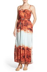Women's Catherine Catherine Malandrino Convertible Tie Maxi Dress Canyon Sky