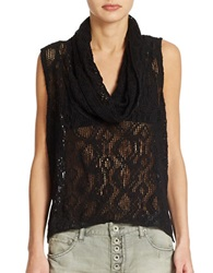 Free People Sleeveless Cowl Neck Top Black