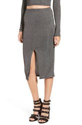 Leith Women's Ribbed Midi Pencil Skirt