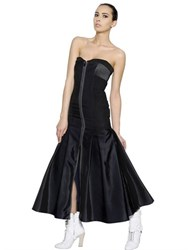 Fendi Strapless Bustier Techno Silk Dress