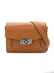 Mara Mac Leather Crossbody Bag Brown