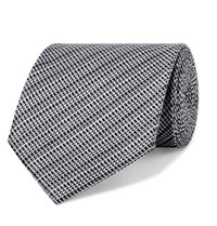 Tom Ford 8Cm Woven Silk And Linen Blend Tie Gray