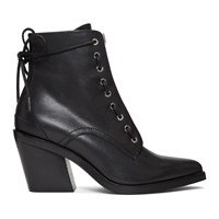 Rag And Bone Black Ryder Lace Up Boots