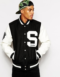 Supreme Being Supremebeing Mace Varsity Jacket Black