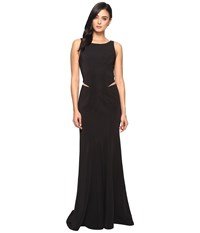 Faviana Ottoman Scoop Neck W Illusion Cut Out 7987 Black Women's Dress