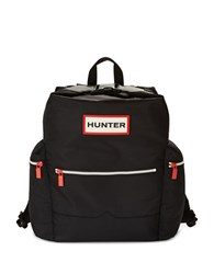 Hunter Top Handle And Clip Nylon Backpack Black