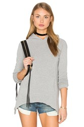 Lna Side Tail Hoodie Grey