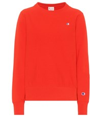 Champion Cotton Sweatshirt Red