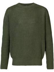 Yang Li Classic Long Sleeve Sweater Green