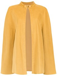 Lilly Sarti Velvet Cape Yellow And Orange