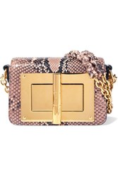 Tom Ford Natalia Mini Python Shoulder Bag Neutral