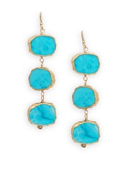 Alanna Bess Turquoise Three Tiered Drop Earrings