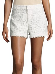 Parker Riley Embroidered Shorts Ivory