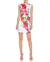 Tracy Reese Jane Watercolor Print Shift Dress Hyper