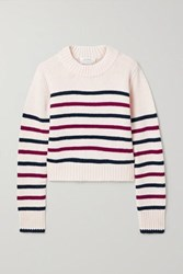 La Ligne Mini Marin Striped Wool And Cashmere Blend Sweater Ivory
