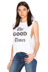 The Laundry Room The Good Times Muscle Tee White