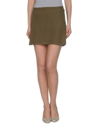 Roberta Furlanetto Mini Skirts Military Green