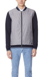 Rvca Oxford Bomber Jacket Black Blue