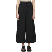 Y 3 Black Nylon Twill Wide Trousers