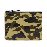 A Bathing Ape 1St Camo Leather Wallet S Multi