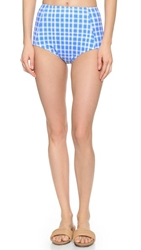Marc By Marc Jacobs Charlotte High Waisted Bikini Bottoms Conch Blue Multi