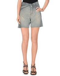 Galliano Denim Denim Shorts Women Blue