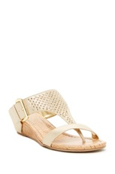 Rampage Sheridel Wedge Sandal Metallic