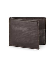 John Varvatos Slimfold Leather Wallet Chocolate
