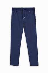 120 Lino Men S Tapered Linen Trousers Boutique1 Navy