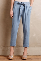 Cartonnier Chambray Paperbag Trousers Light Denim