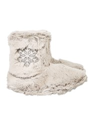 Totes Faux Fur Boot With Snowflake Grey