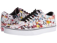 Vans Old Skool Paint Splatter Multi True White Skate Shoes Black