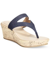 Styleandco. Style And Co. Orahh Wedge Sandals Only At Macy's Women's Shoes Indigo Blue