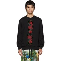 Dolce And Gabbana Black Roses Sweatshirt