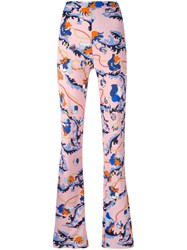 Emilio Pucci Printed Flared Trousers Pink Purple