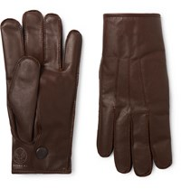 Rrl Cashmere Lined Leather Gloves Brown