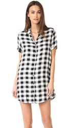 Bb Dakota Alexia Plaid Shirtdress Black