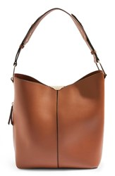 Topshop Hettie Faux Leather Hobo Bag