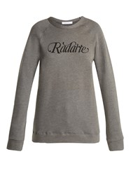 Rodarte Radarte Cotton Sweatshirt Grey