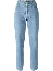 Moschino Vintage Peace Symbol Jeans Blue