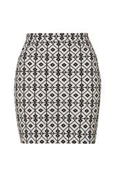 Diamond Printed Bodycon Skirt By Wyldr Multi