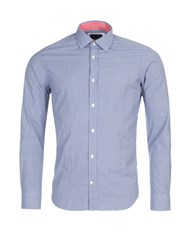 Eden Park Men's Print Cotton Shirt Blue