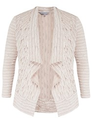 Chesca Striped Fancy Jersey Shrug Ivory