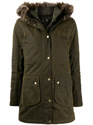 Barbour Wax Parka Coat Green