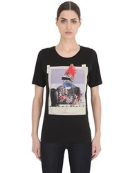 Dsquared Rocker Printed Cotton Jersey T Shirt